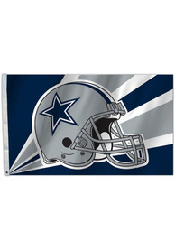 Dallas Cowboys 3X5 Blue Silk Screen Grommet Flag
