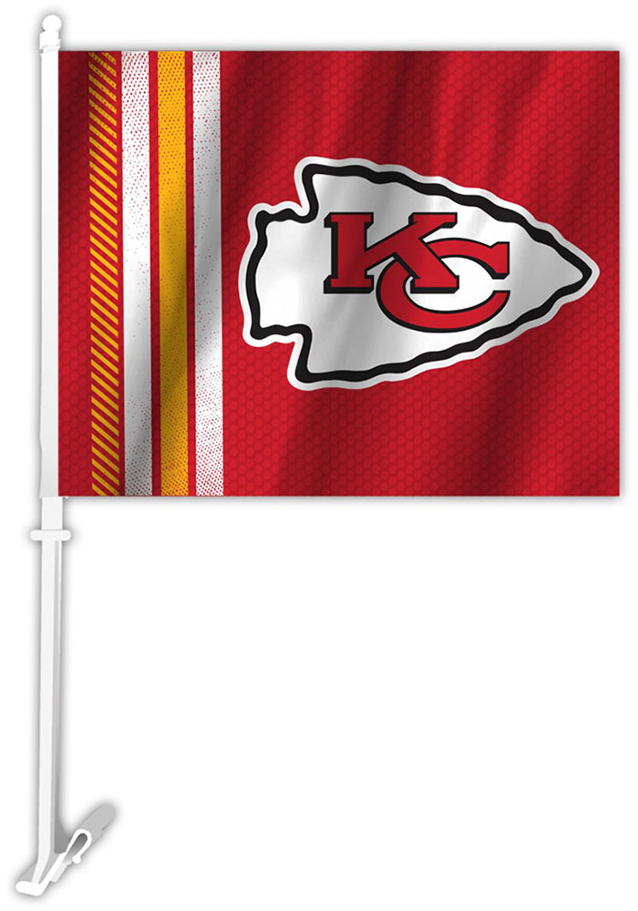 Kansas City Chiefs 11X14 Rally Car Flag - Red - Image 1