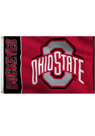Ohio State Buckeyes 3x5 Panel Red Silk Screen Grommet Flag
