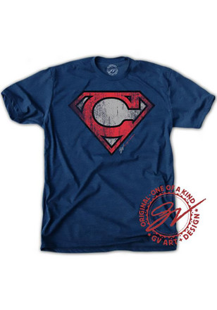 Mens Navy Blue Super C Fashion Tee