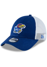 Kansas Jayhawks Toddler New Era JR Team Truckered 9FORTY Adjustable - Blue