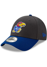 Kansas Jayhawks Toddler New Era JR League 9FORTY Adjustable - Grey
