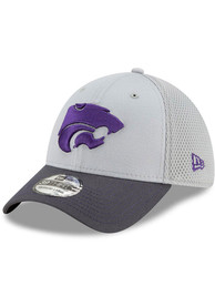 New Era K-State Wildcats Grey JR Gray Neo 39THIRTY Youth Flex Hat