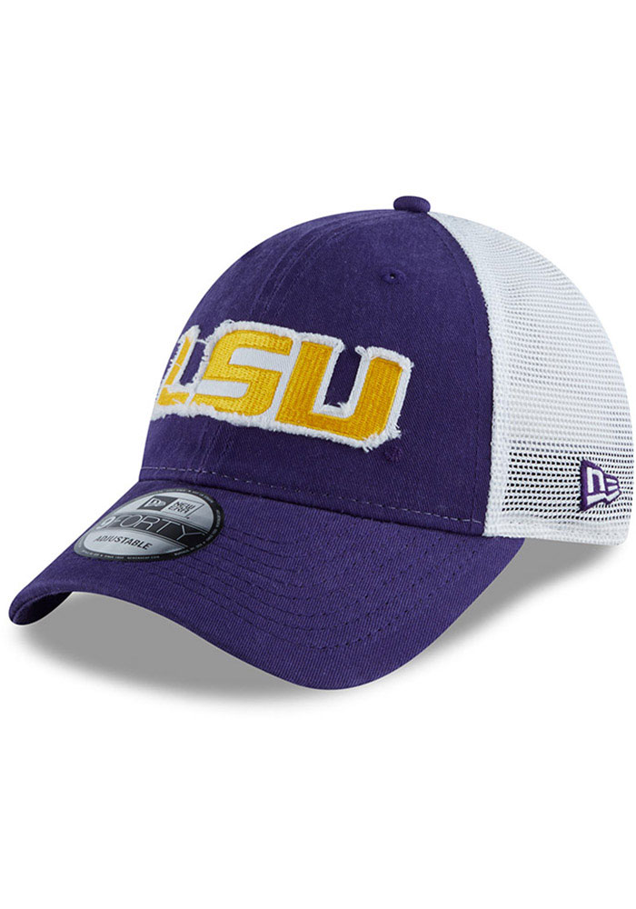 New Era LSU Tigers Team Truckered 9TWENTY Adjustable Hat - Purple - Image 1