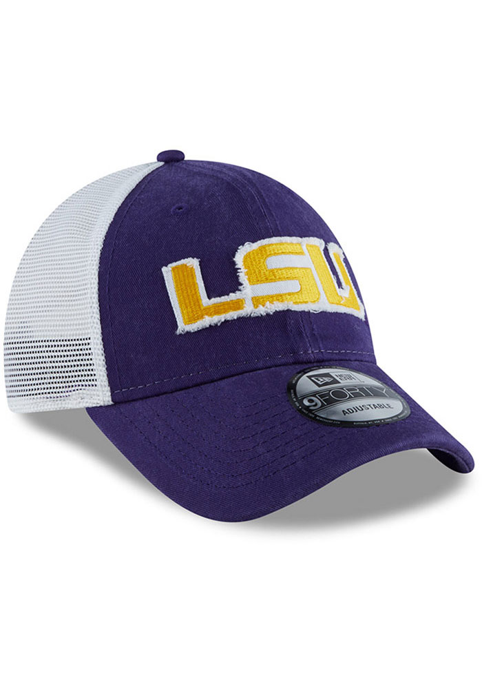 New Era LSU Tigers Team Truckered 9TWENTY Adjustable Hat - Purple - Image 2