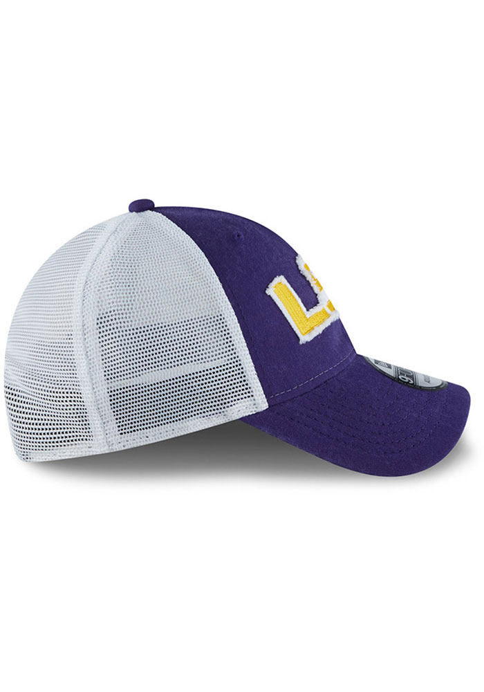 New Era LSU Tigers Team Truckered 9TWENTY Adjustable Hat - Purple - Image 6
