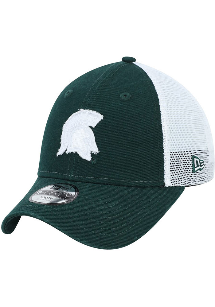 New Era Michigan State Spartans Green JR Team Truckered 9FORTY Youth Adjustable Hat