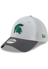 New Era Michigan State Spartans Grey JR Gray Neo 39THIRTY Youth Flex Hat