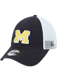 Michigan Wolverines Youth New Era JR Team Truckered 9FORTY Adjustable Hat - Navy Blue