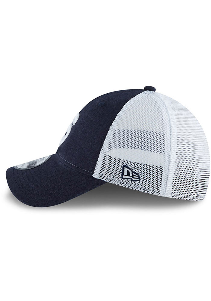 New Era Penn State Nittany Lions Team Truckerd Heritage 9FORTY Adjustable Hat - Navy Blue - Image 4