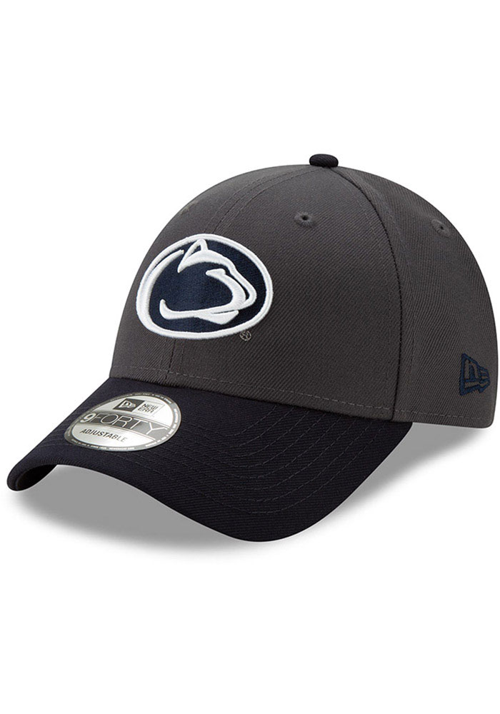 New Era Penn State Nittany Lions League 9FORTY Adjustable Hat - Grey - Image 1