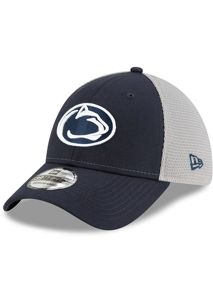New Era Penn State Nittany Lions Mens Navy Blue 2T Sided 39THIRTY Flex Hat - Image 1