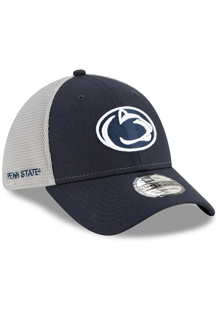 New Era Penn State Nittany Lions Mens Navy Blue 2T Sided 39THIRTY Flex Hat - Image 2