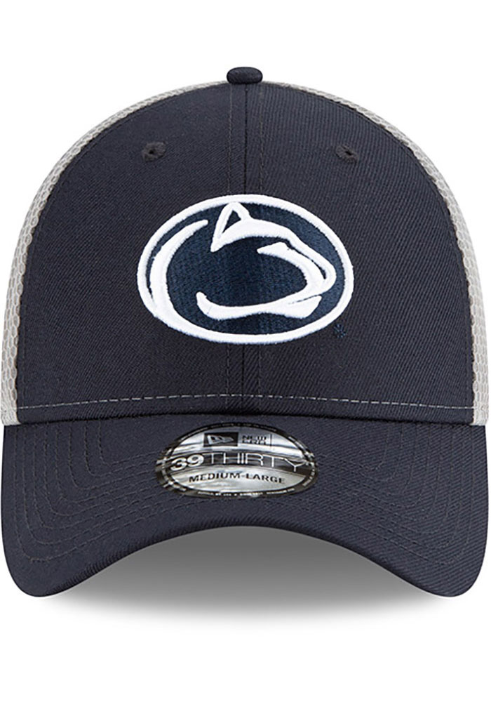 New Era Penn State Nittany Lions Mens Navy Blue 2T Sided 39THIRTY Flex Hat - Image 3