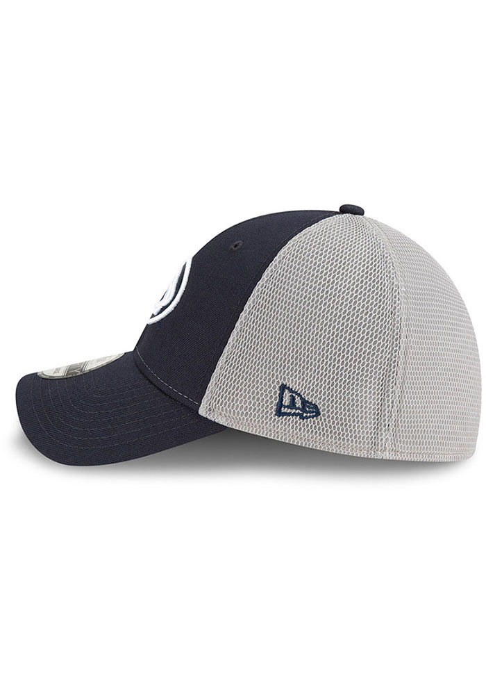 New Era Penn State Nittany Lions Mens Navy Blue 2T Sided 39THIRTY Flex Hat - Image 4
