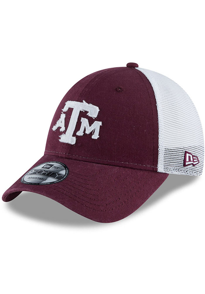 New Era Texas A&M Aggies Team Truckered 9FORTY Adjustable Hat - Maroon - Image 1