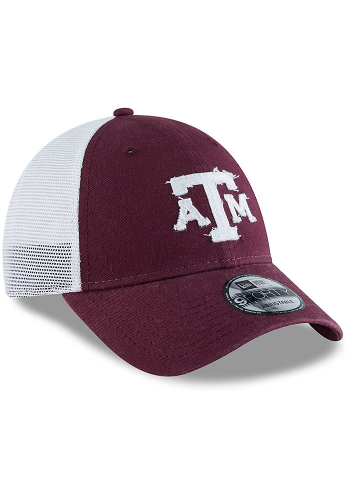 New Era Texas A&M Aggies Team Truckered 9FORTY Adjustable Hat - Maroon - Image 2