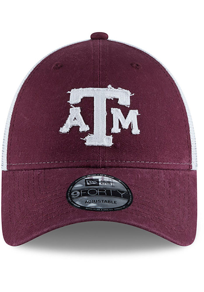New Era Texas A&M Aggies Team Truckered 9FORTY Adjustable Hat - Maroon - Image 3