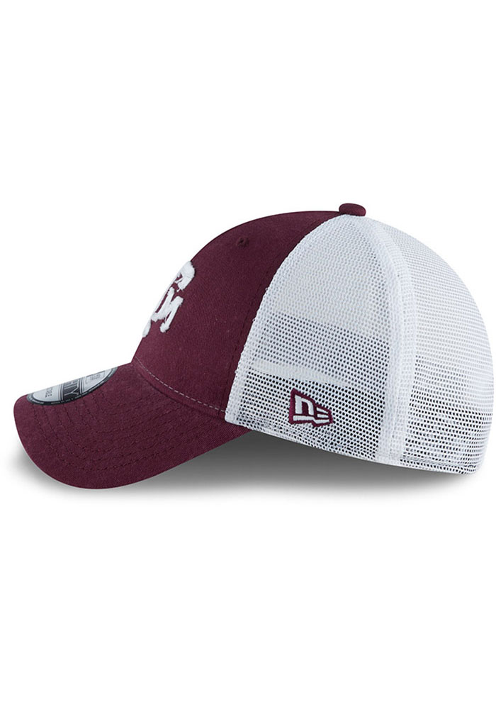 New Era Texas A&M Aggies Team Truckered 9FORTY Adjustable Hat - Maroon - Image 4
