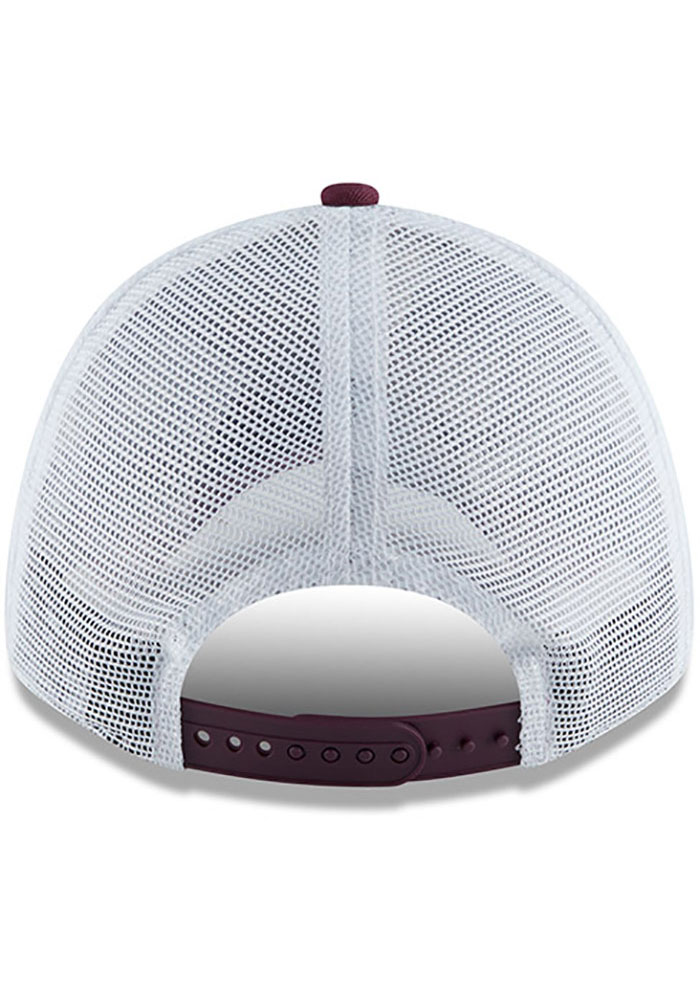 New Era Texas A&M Aggies Team Truckered 9FORTY Adjustable Hat - Maroon - Image 5