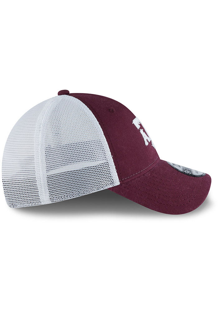 New Era Texas A&M Aggies Team Truckered 9FORTY Adjustable Hat - Maroon - Image 6