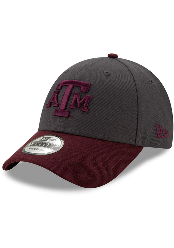 New Era Texas A&M Aggies League 9FORTY Adjustable Hat - Grey - Image 1