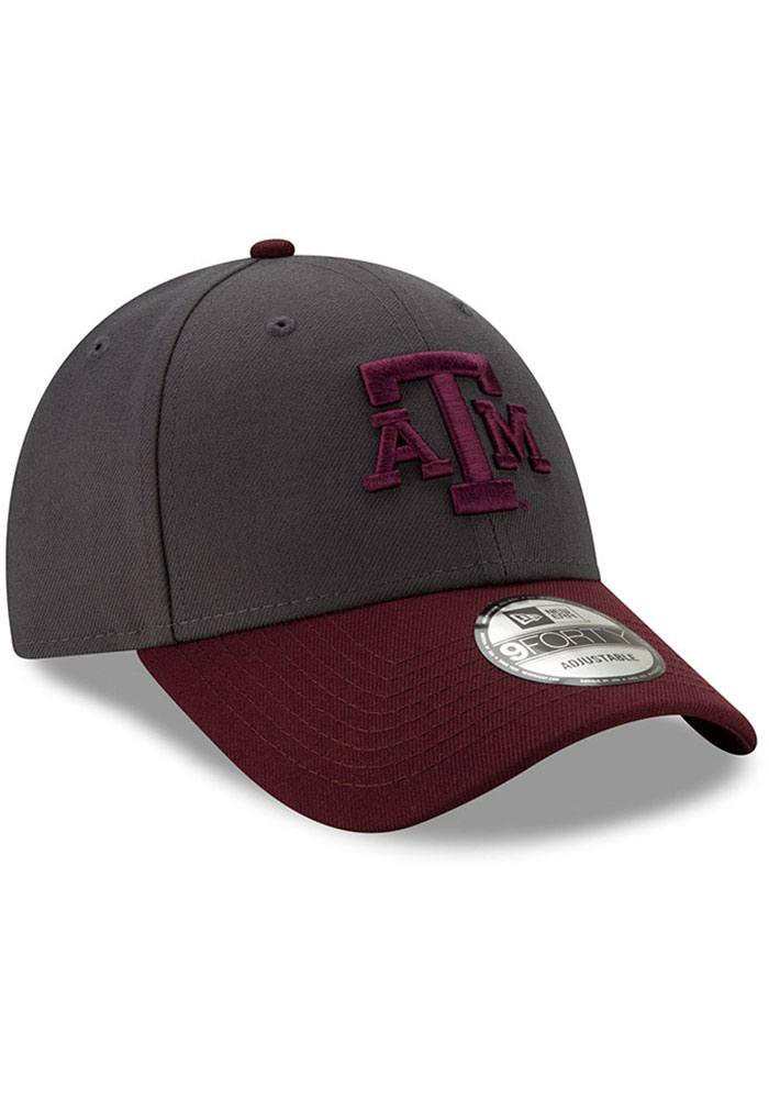 New Era Texas A&M Aggies League 9FORTY Adjustable Hat - Grey - Image 2