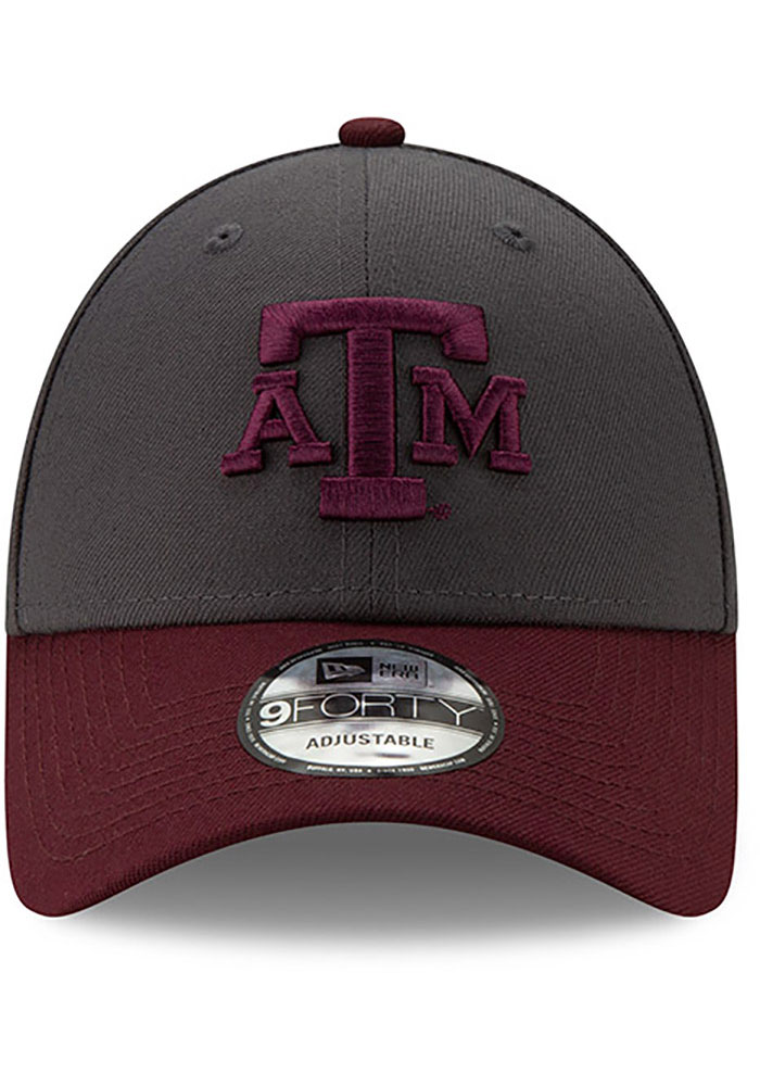 New Era Texas A&M Aggies League 9FORTY Adjustable Hat - Grey - Image 3