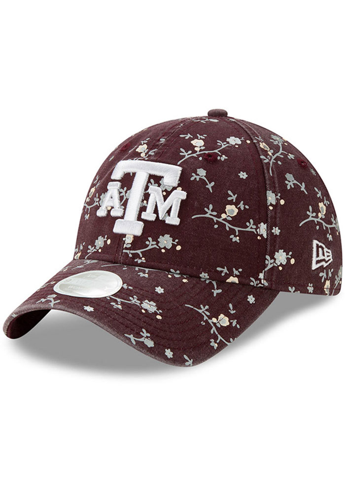 New Era Texas A&M Aggies Maroon Blossom 9TWENTY Womens Adjustable Hat - Image 1