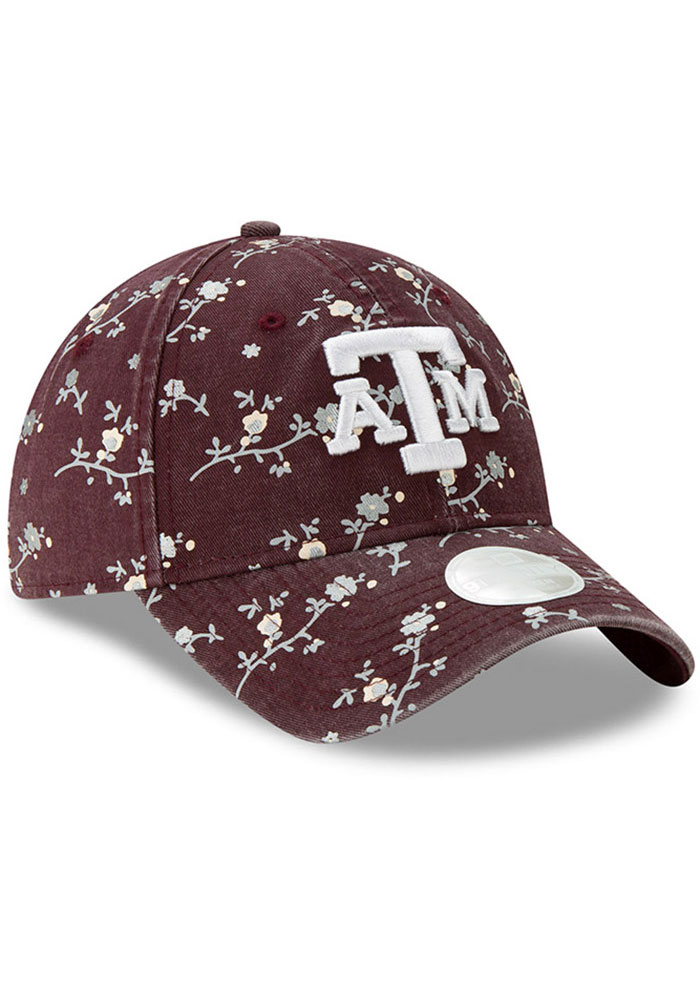 New Era Texas A&M Aggies Maroon Blossom 9TWENTY Womens Adjustable Hat - Image 2