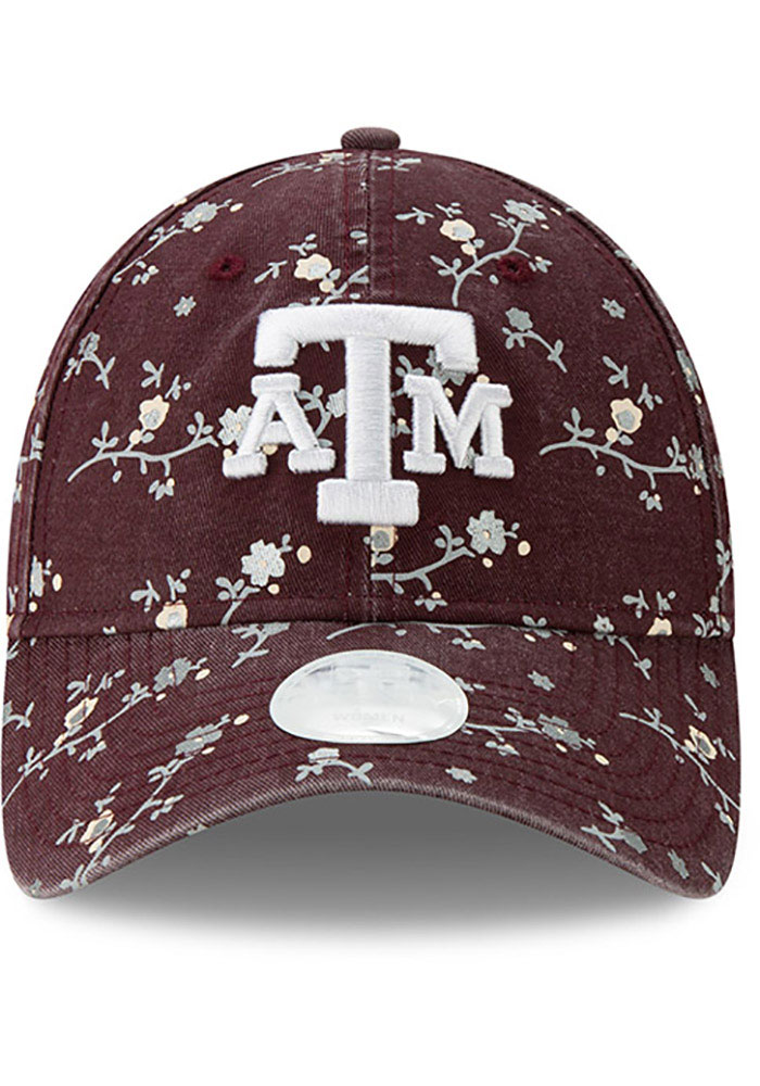 New Era Texas A&M Aggies Maroon Blossom 9TWENTY Womens Adjustable Hat - Image 3