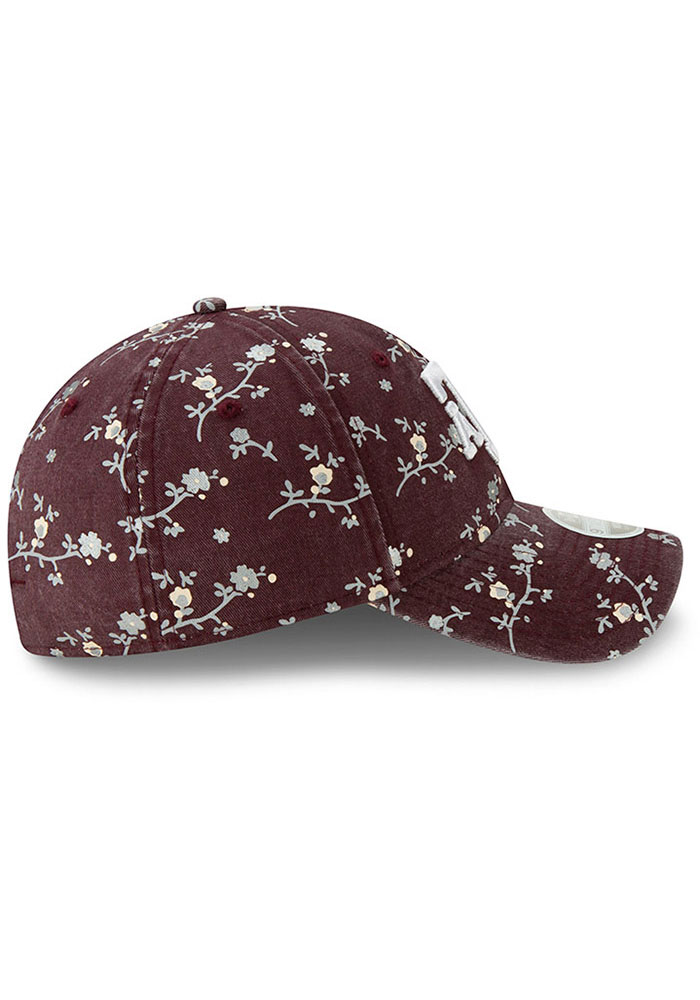 New Era Texas A&M Aggies Maroon Blossom 9TWENTY Womens Adjustable Hat - Image 6