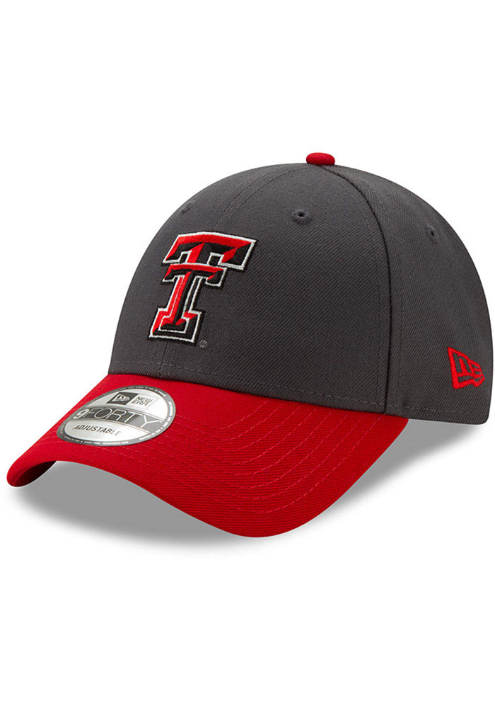 New Era Texas Tech Red Raiders Grey JR League 9FORTY Youth Adjustable Hat - Image 1