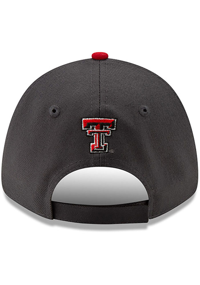New Era Texas Tech Red Raiders Grey JR League 9FORTY Youth Adjustable Hat - Image 2