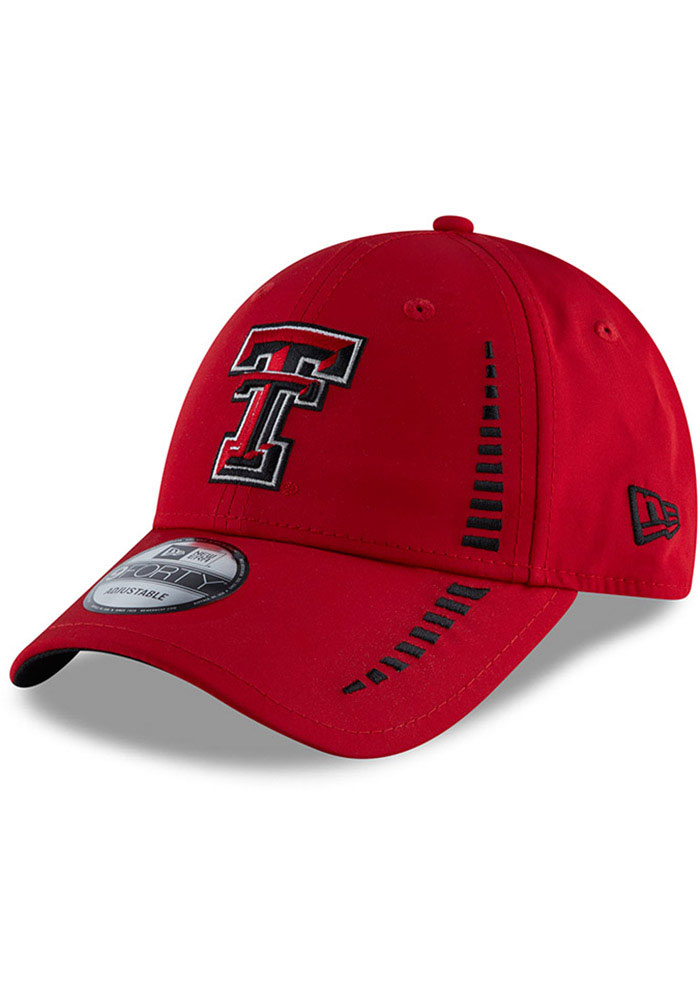 New Era Texas Tech Red Raiders Speed 9FORTY Adjustable Hat - Red - Image 1
