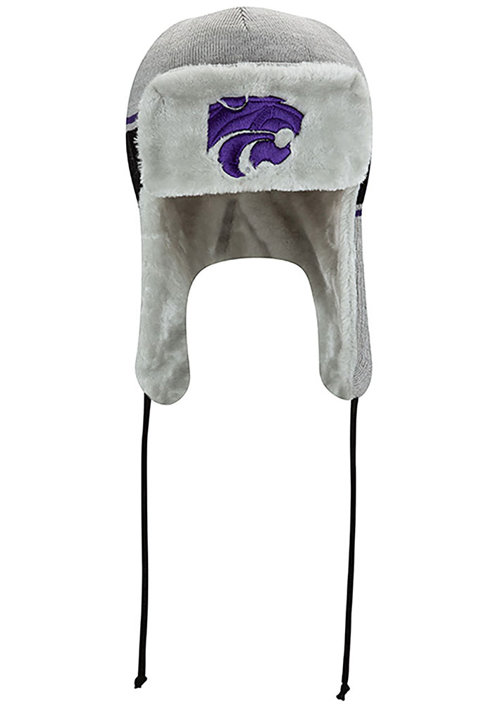 New Era K-State Wildcats Grey Trapper Mens Knit Hat - Image 3