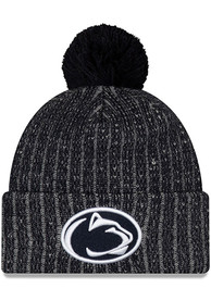 New Era Penn State Nittany Lions Navy Blue Color Twist Cuff Pom Knit Hat