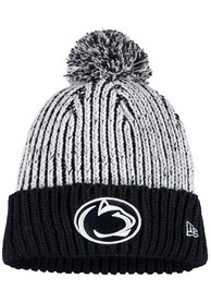 New Era Penn State Nittany Lions Womens Navy Blue Sporty Cuff Pom Knit Hat