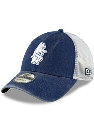Chicago Cubs New Era Cooperstown Trucker 9FORTY Adjustable Hat - Navy Blue