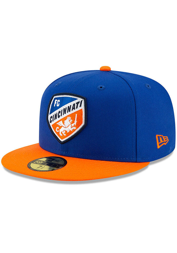 New Era FC Cincinnati Mens Blue Home Jersey Hook 59FIFTY Fitted Hat - Image 1