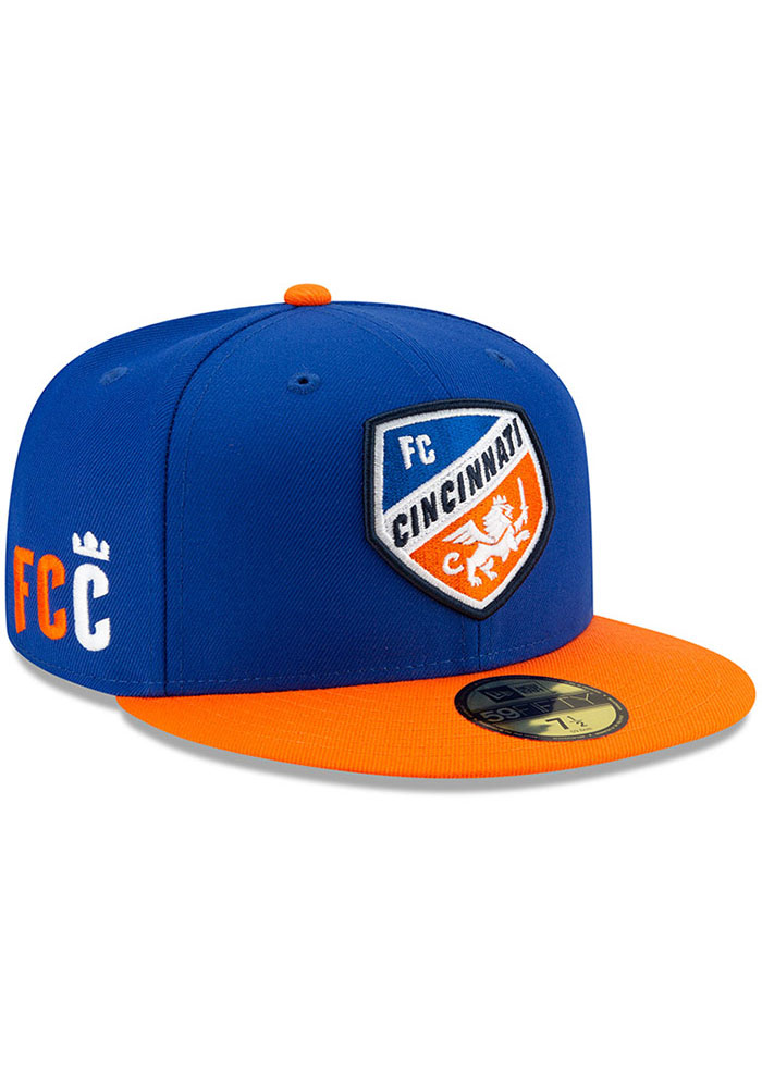 New Era FC Cincinnati Mens Blue Home Jersey Hook 59FIFTY Fitted Hat - Image 2