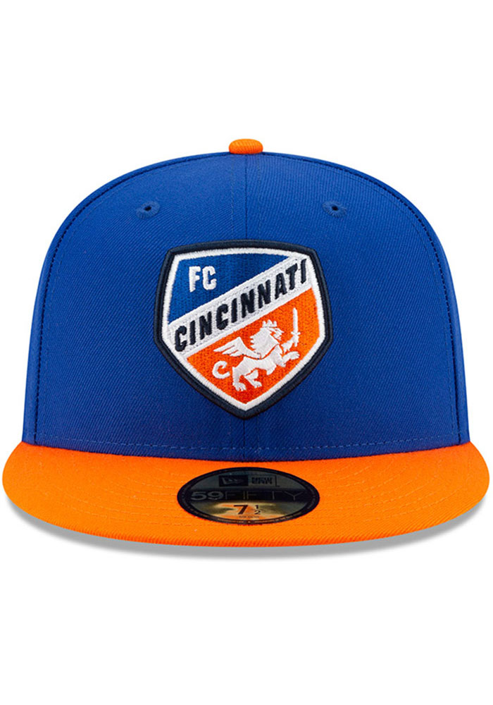New Era FC Cincinnati Mens Blue Home Jersey Hook 59FIFTY Fitted Hat - Image 3