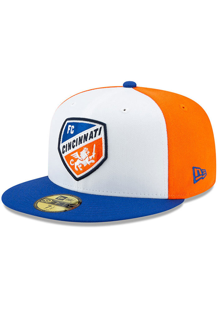 New Era FC Cincinnati Mens White Away Jersey Hook 59FIFTY Fitted Hat - Image 1