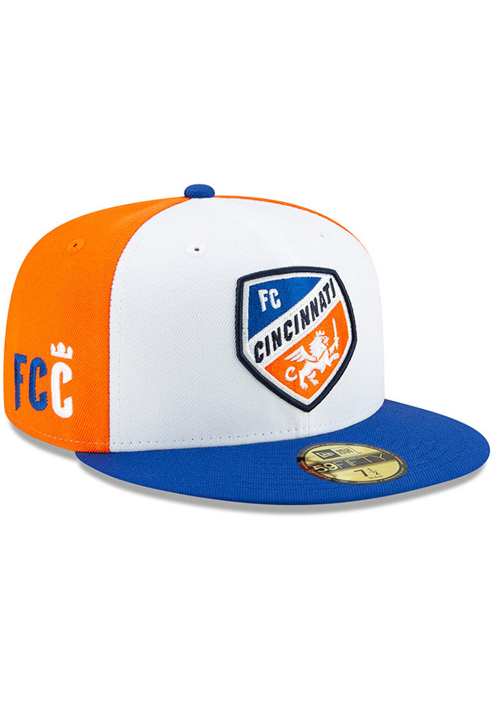 New Era FC Cincinnati Mens White Away Jersey Hook 59FIFTY Fitted Hat - Image 2
