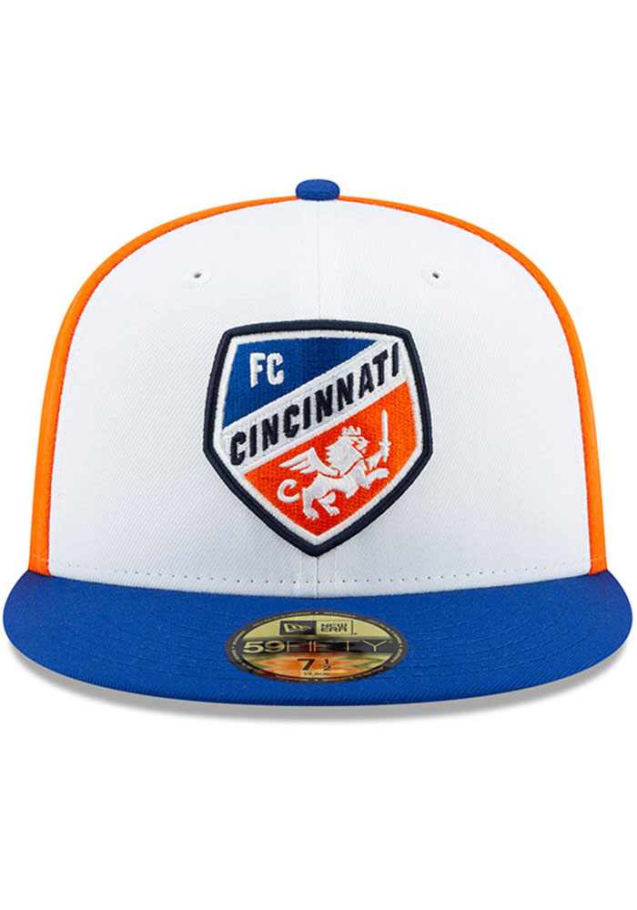 New Era FC Cincinnati Mens White Away Jersey Hook 59FIFTY Fitted Hat - Image 3