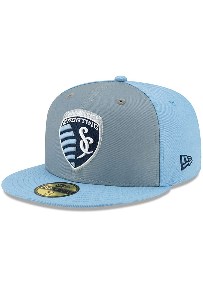 New Era Sporting Kansas City Mens Light Blue Home Jersey Hook 59FIFTY Fitted Hat - Image 1