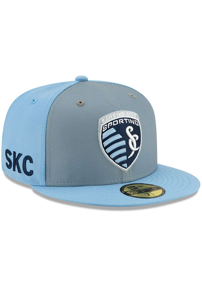 New Era Sporting Kansas City Mens Light Blue Home Jersey Hook 59FIFTY Fitted Hat - Image 2
