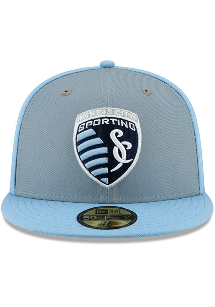 New Era Sporting Kansas City Mens Light Blue Home Jersey Hook 59FIFTY Fitted Hat - Image 3