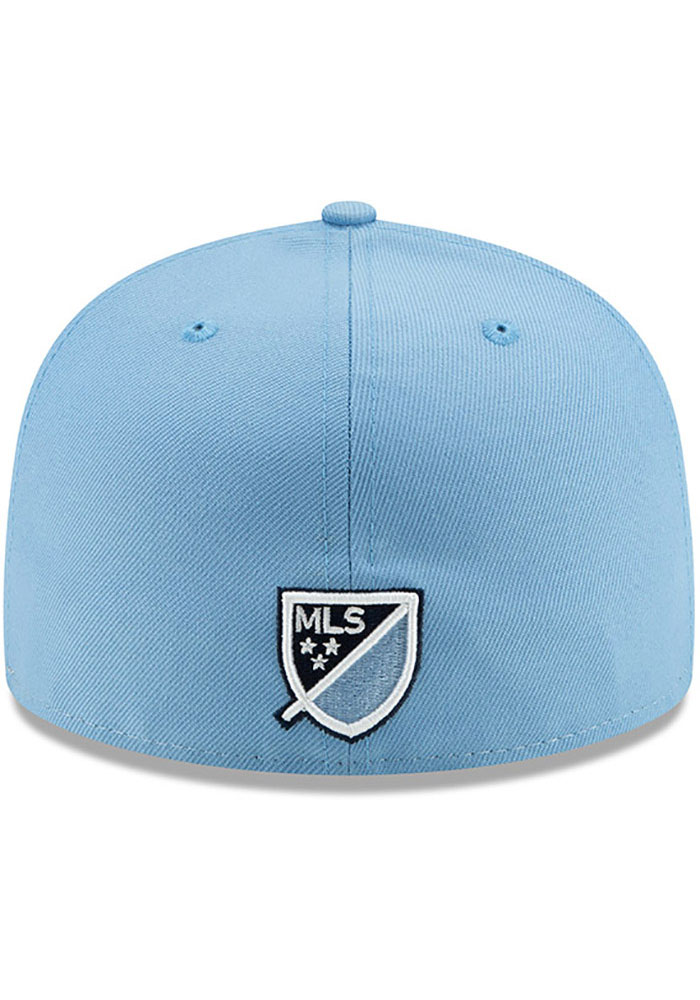 New Era Sporting Kansas City Mens Light Blue Home Jersey Hook 59FIFTY Fitted Hat - Image 5