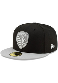 Sporting Kansas City New Era Black Away Jersey Hook 59FIFTY Fitted Hat